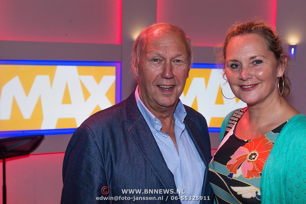 NLD/Hilversum/20130826 - najaarspresentatie 2013 omroep Max, Edwin Rutten en Tuffie Vos
