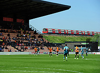Football - 2020 / 2021 Vanarama National League - Barnet vs Sutton United - The Hive Stadium<br /> <br /> The London tube runs behind the main stand of Barnet Football club<br /> <br /> Credit : COLORSPORT/ANDREW COWIE