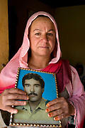 "Sefura - ""The Taliban killed my husband in 2001. He was in the military. I have 4 daughters and 2 sons. The sons work pushing carts and selling vegetables. 'Five  months after I was widowed, my daughter was engaged . She was 3 months old. When she was 16, she disappeared. I do not know what happened to her.  The family of her fiance was furious. They demanded two daughters in her place and forced two of my daughters to marry. There was nothing I could do."""
