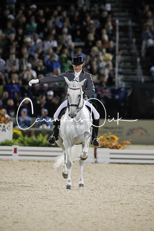 Munoz Diaz Juan Manuel (ESP) - Fuego XII<br /> Alltech FEI World Equestrian Games <br /> Lexington - Kentucky 2010<br /> © Dirk Caremans