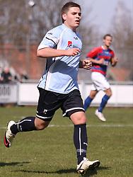 FODBOLD: Andreas Svinggaard (Helsingør) under kampen i Danmarksserien, pulje 1, mellem Elite 3000 Helsingør og Boldklubben Frem den 25. april 2010 på Helsingør Stadion. Foto: Claus Birch