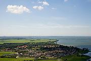 Nederland, Noord-Holland, Muiderberg, 14-07-2008; Muiderberg en IJmeer, IJburg en Amsterdam aan de horizon. .luchtfoto (toeslag); aerial photo (additional fee required); .foto Siebe Swart / photo Siebe Swart