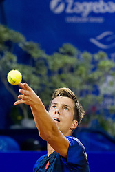 Aljaz Bedene (GBR) during a tennis match against the Borna Colic (CRO) in second round of singles at 26. Konzum Croatia Open Umag 2015, on July 23, 2015, in Umag, Croatia. Photo by Urban Urbanc / Sportida