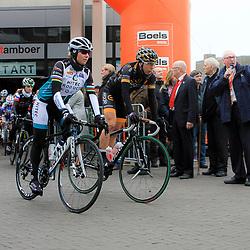 HOOGEVEEN cycling: The first manche of the UCI womens worldcup the Boels Rental ronde van Drenthe<br />Tatiana Guderzo, Giorgia Bronzini