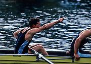 Henley, GREAT BRITAIN,  Temple Challenge Trophy, Berks Goldie [Cambridge Uni] celebrate winning. 1997 Henley Royal Regatta, Henley Reach, 2-6 July 1997, Henley, ENGLAND [Mandatory Credit, Peter Spurrier/Intersport-images] 1997 Henley Royal Regatta, Henley, Great Britain