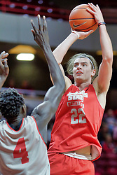 NORMAL, IL - October 12: Matt Chastain during Illinois State Athletics Hoopfest on October 12 2018 at Redbird Arena in Normal, IL. (Photo by Alan Look)