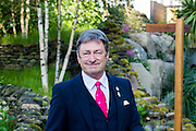 Alan Titchmarsh in front of his RHS Britain in Bloom garden. The Chelsea Flower Show 2014. The Royal Hospital, Chelsea, London, UK. 19 May 2014.