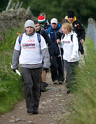 Matt on the walk with Hartson's group..The John Hartson Foudation walk up Ben Nevis..Pic ©2010 Michael Schofield. All Rights Reserved.