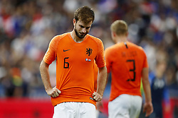 (L-R) Davy Propper of Holland, Matthijs de Ligt of Holland during the UEFA Nations League A group 1 qualifying match between France and The Netherlands on September 09, 2018 at Stade de France in Saint Denis,  France