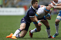 March 17, 2018 - Rome, RM, Italy - Leonardo Ghiraldini of Italy in action during the Six Nations 2018 match between Italy and Scotland at Olympic Stadium on March 17, 2018 in Rome, Italy. (Credit Image: © Danilo Di Giovanni/NurPhoto via ZUMA Press)