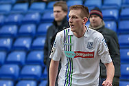 Jeff Hughes (Tranmere Rovers) about to take a corner during the Vanarama National League match between Tranmere Rovers and Southport at Prenton Park, Birkenhead, England on 6 February 2016. Photo by Mark P Doherty.