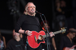 Barry Gibb performing during the Glastonbury Festival at Worthy Farm in Pilton, Somerset. Picture date: Sunday June 25th 2017. Photo credit should read: Matt Crossick/ EMPICS Entertainment.