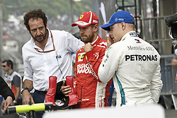 November 10, 2018 - Sao Paulo, Brazil - VETTEL Sebastian (ger), Scuderia Ferrari SF71H, portrait m BOTTAS Valtteri (fin), Mercedes AMG F1 Petronas GP W09 Hybrid EQ Power+, portrait during the 2018 Formula One World Championship, Brazil Grand Prix from November 08 to 11 in Sao Paulo, Brazil - Photo Eric Vargiolu / DPPI. Motorsports: FIA Formula One World Championship 2018, Grand Prix of Brazil World Championship;2018;Grand Prix;Brazil ,   , #5 Sebastian Vettel (GER, Scuderia Ferrari)#77 Valtteri Bottas (FIN, Mercedes AMG Petronas) (Credit Image: © Hoch Zwei via ZUMA Wire)