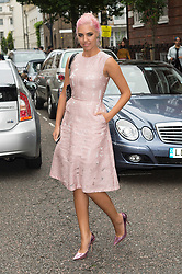 © Licensed to London News Pictures. 17/09/2016. AMBER LE BON arrives for the JULIEN MACDONALD Spring/Summer 2017 show. Models, buyers, celebrities and the stylish descend upon London Fashion Week for the Spring/Summer 2017 clothes collection shows. London, UK. Photo credit: Ray Tang/LNP