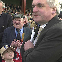 Jackie Healy-Rae and Bertie Ahern meet up in Kenmare shortly after signing a deal in 2007.<br /> Picture by Don MacMonagle