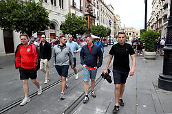 A general view of England fans making their way to the stadium prior to the Nations League match at Benito Villamarin Stadium, Seville.