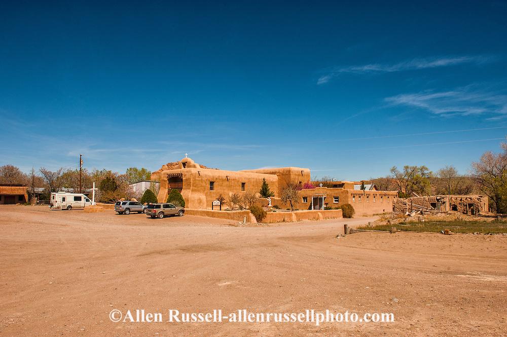 Saint Thomas The Apostle Catholic Church, The Pueblo de Abiquiu Plaza, Abiquiu, New Mexico