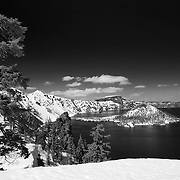 Crater Lake National Park, OR (B/W)