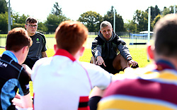 Pierce Phillips and Ted Hill of Worcester Warriors host a Q&A as Worcester Warriors host a summer holiday rugby camp at Malvern College - Mandatory by-line: Robbie Stephenson/JMP - 16/08/2017 - RUGBY - Malvern College - Worcester, England - Worcester Warriors - Malvern Rugby Camp