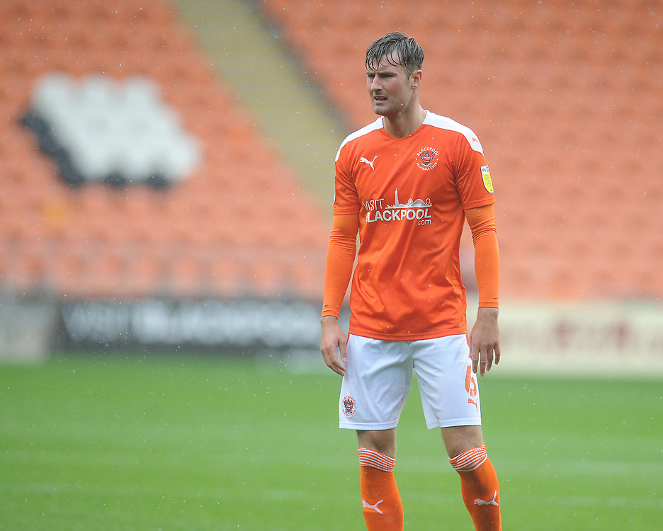 Blackpool's Ethan Robson<br /> <br /> Photographer Kevin Barnes/CameraSport<br /> <br /> The EFL Sky Bet League One - Blackpool v Lincoln City - Saturday 3rd October 2020 - Bloomfield Road - Blackpool<br /> <br /> World Copyright © 2020 CameraSport. All rights reserved. 43 Linden Ave. Countesthorpe. Leicester. England. LE8 5PG - Tel: +44 (0) 116 277 4147 - admin@camerasport.com - www.camerasport.com