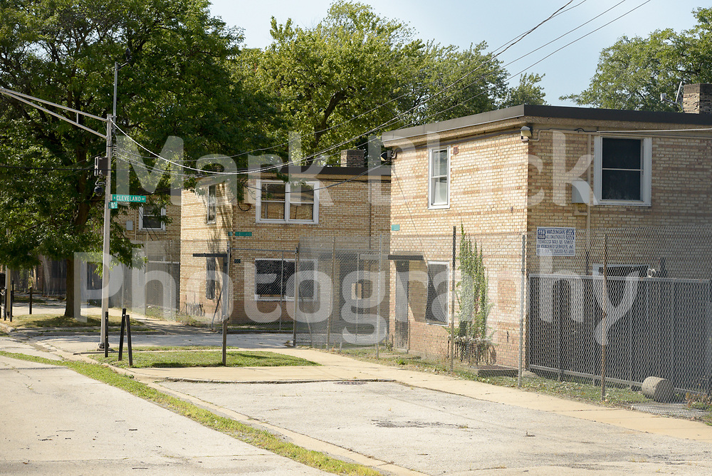 Chicago Housing Authority Cabrini Green Rowhouses, public housing, in Chicago on Thursday, Sept. 3, 2020. Photo by Mark Black
