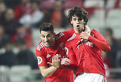 February 7, 2019 - Na - Lisbon, 06/02/2019 - SL Benfica received this evening the Sporting CP in the Stadium of Light, in game the account for the first leg of the Portuguese Cup 2018/19 semi final. Pizzi and Jo√£o Félix  (Credit Image: © Atlantico Press via ZUMA Wire)