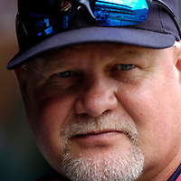 26 August 2007:  Minnesota Twins manager Ron Gardenhire watches his team in action against the Baltimore Orioles in the 1st inning.  The Twins defeated the Orioles 11-3 at Camden Yards in Baltimore, MD.