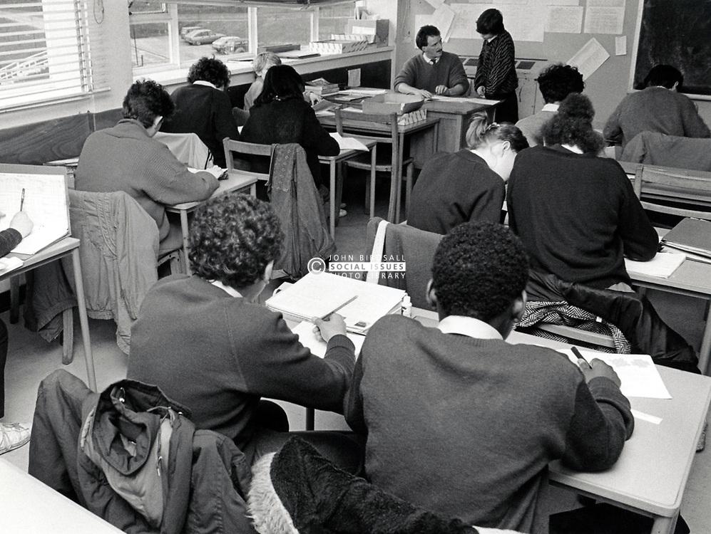Elliott Durham Secondary school, Nottingham, UK 1987. The school is now part of Nottingham Academy, one of the largest schools in Europe