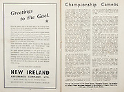 All Ireland Senior Hurling Championship Final,.Brochures,.05.09.1948, 09.05.1948, 5th September 1948, .Waterford 6-7, Dublin 4-2, .Minor Kilkenny v Waterford, .Senior Dublin v Waterford, .Croke Park, ..Advertisements, New Ireland Assurance Company Ltd,..Articles, Championship Cameos,
