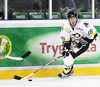 Ishockey , <br /> GET ligaen , <br /> 18.09.08 , <br /> Halden ishall , <br /> Comet - Stavanger , <br /> Brendan Brooks , <br /> Foto: Thomas Andersen / Digitalsport