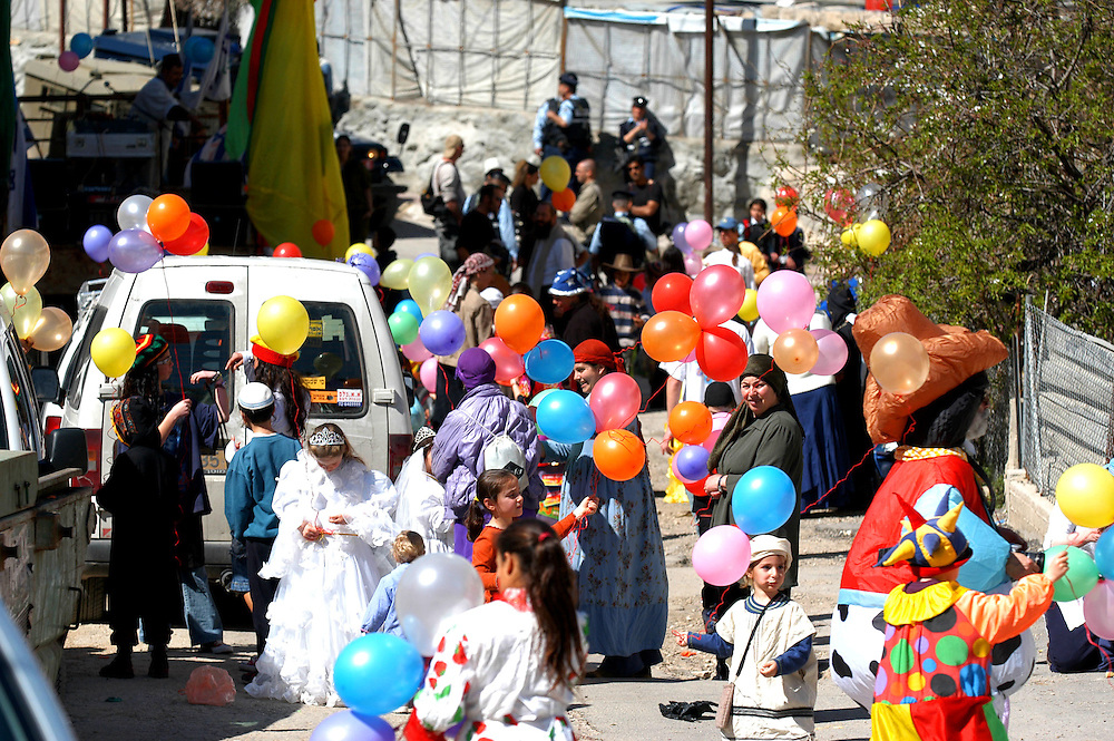 Purim parade at Hevron