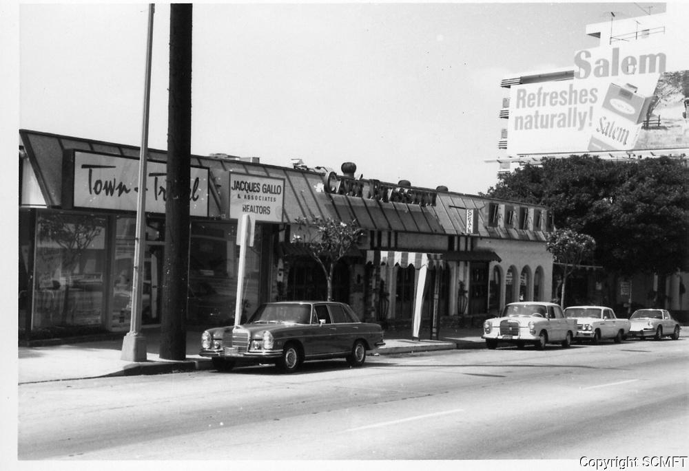 1973 Cafe Brasserie on Sunset Blvd.
