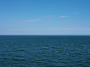 A view of the North Sea from the pier on 7th May 2020 in Saltburn-by-the-Sea, Cleveland, United Kingdom.