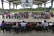 Panorama of the 2013 Annual General Meeting. Toledo Cacao Growers' Association (TCGA), Julian Cho Technical High School, Mile 14 Southern Highway, Toledo, Belize. January 26, 2013.Toledo Cacao Growers' Association (TCGA), Julian Cho Technical High School, Mile 14 Southern Highway, Toledo, Belize. January 26, 2013.