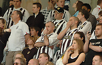 Photo: Leigh Quinnell.<br /> Notts County v Bury. Coca Cola League 2. 06/05/2006.<br /> Notts county fans hear the results and things do not look good.