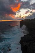 Puna coastline, Hawaii Volcanos Nationa Park, Big Island of Hawaii, Hawaii