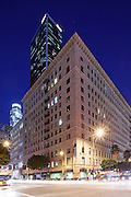 The Roosevelt Apartment Building On The Corner Of 7th And Flower Los Angeles California