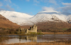 New Years Day dawned crisp and clear at Kilchurn Castle, Loch Awe in Argyll. The snow well down on the mountains and the reflections on the loch made for a tranquil scene…….. (c) Stephen Lawson   Edinburgh Elite media