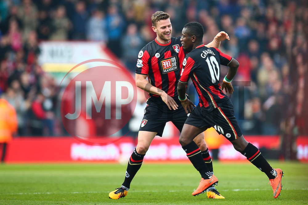 Goal, Max Gradel of Bournemouth scores, Bournemouth 1-0 Swansea City - Mandatory by-line: Jason Brown/JMP - Mobile 07966 386802 12/03/2016 - SPORT - FOOTBALL - Bournemouth, Vitality Stadium - AFC Bournemouth v Swansea City - Barclays Premier League