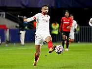 Youssef En-Nesyri of Sevilla FC during the UEFA Champions League, Group E football match between Stade Rennais and Sevilla FC (FC Seville) on December 8, 2020 at Roazhon Park in Rennes, France - Photo Jean Catuffe / ProSportsImages / DPPI