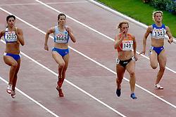 10-08-2006 ATLETIEK: EUROPEES KAMPIOENSSCHAP: GOTHENBORG <br /> Sprintster Jacqueline Poelman (1491) heeft zich bij de Europese kampioenschappen atletiek verzekerd van een startplaats in de halve finale van de 200 meter. Ze eindigde donderdagavond in haar serie als tweede in 23,35 <br /> ©2006-WWW.FOTOHOOGENDOORN.NL