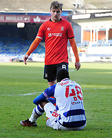Football - 2020 / 2021 Emirates FA Cup - Round Three - Luton Town vs Reading - Kenilworth Road<br /> <br /> Luke Berry of Luton consoles Jeriel Dorsett of Reading at the final whistle<br /> <br /> COLORSPORT/ANDREW COWIE