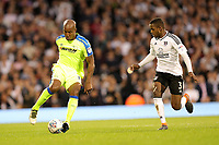 LONDON, ENGLAND - MAY 14:LONDON, ENGLAND - MAY 14:Andre Wisdom, of Derby County, attacks down the right wing