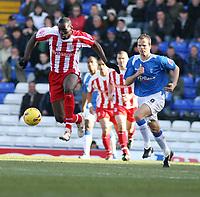 Photo: Mark Stephenson.<br /> Birmingham City v Stoke City. Coca Cola Champinship. 11/02/2007.Stoke's Mamady Sidibe on the ball