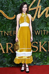 Alexa Chung attending the Fashion Awards in association with Swarovski held at the Royal Albert Hall, Kensington Gore, London