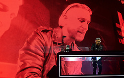 David Guetta on stage during day one of Capital's Jingle Bell Ball with Coca-Cola at London's O2 Arena.