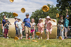 August 1, 2018 - York, Yorkshire, UK - The annual Yorkshire Pudding tossing competition is underway this afternoon at York Maze near York to celebrate Yorkshire Day. (Credit Image: © Andrew Mccaren/London News Pictures via ZUMA Wire)