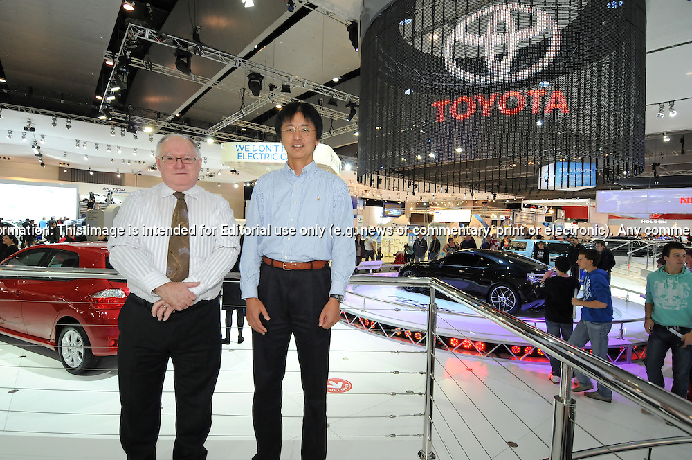 (L-R) Russ Tyrie - Show Director - Australian International Motor Show & Tetsuya Tada - Chief Engineer - Sport Vehicle Mangement Division.from Toyota Motor Corporation with his Toyota FT86II Concept.2011 Australian International Motorshow (AIMS).Melbourne Convention and Exhibition Centre.Southbank, Melbourne.9th of July 2011.(C) Joel Strickland Photographics.Use information: This image is intended for Editorial use only (e.g. news or commentary, print or electronic). Any commercial or promotional use requires additional clearance.