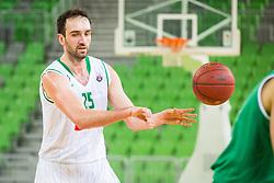 Mirza Begic of Petrol Olimpija during basketball match between Petrol Olimpija and Ilirija in Liga Nova KBM, Playoff for Champion, on March 7, 2018 in Arena Stozice, Ljubljana, Slovenia. Photo by Ziga Zupan / Sportida