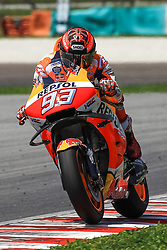 February 7, 2019 - Sepang, SGR, U.S. - SEPANG, SGR - FEBRUARY 07: Marc Marquez of Repsol Honda Team in action during the  second day of the MotoGP official testing session held at Sepang International Circuit in Sepang, Malaysia. (Photo by Hazrin Yeob Men Shah/Icon Sportswire) (Credit Image: © Hazrin Yeob Men Shah/Icon SMI via ZUMA Press)